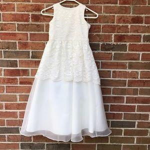 EUC Cream Formal Dress Sz6